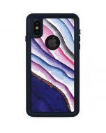 Violet Watercolor Geode iPhone X Waterproof Case