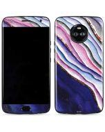 Violet Watercolor Geode Moto X4 Skin