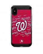 Washington Nationals - Cap Logo Blast iPhone XS Max Cargo Case