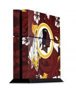 Washington Redskins Tropical Print PS4 Console Skin