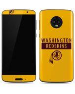 Washington Redskins Yellow Performance Series Moto G6 Skin
