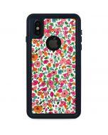 Watercolor Floral iPhone XS Waterproof Case
