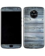 Weathered Blue Wood Moto X4 Skin