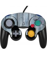 Weathered Blue Wood Nintendo GameCube Controller Skin