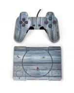 Weathered Blue Wood PlayStation Classic Bundle Skin