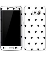 White and Black Hearts Galaxy S6 Edge Skin