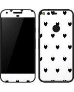 White and Black Hearts Google Pixel Skin