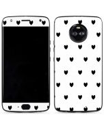 White and Black Hearts Moto X4 Skin