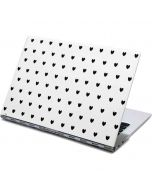 White and Black Hearts Yoga 910 2-in-1 14in Touch-Screen Skin