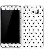 White and Black Polka Dots Galaxy S6 Edge Skin