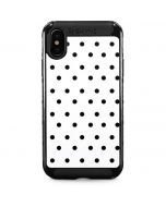 White and Black Polka Dots iPhone XS Max Cargo Case