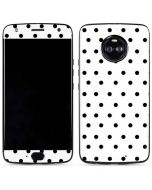 White and Black Polka Dots Moto X4 Skin