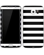 White and Black Stripes Galaxy S6 Edge Skin