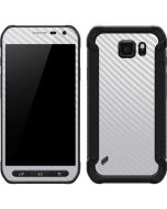 White Carbon Fiber Galaxy S6 Active Skin