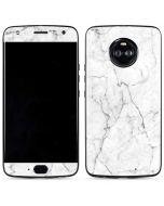 White Marble Moto X4 Skin