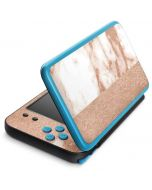White Rose Gold Marble 2DS XL (2017) Skin
