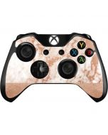 White Rose Gold Marble Xbox One Controller Skin