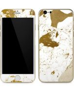 White Scattered Marble iPhone 6/6s Skin