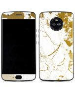 White Scattered Marble Moto X4 Skin