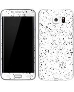 White Speckle Galaxy S6 Edge Skin
