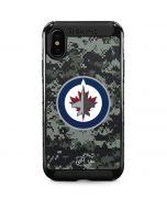Winnipeg Jets Camo iPhone XS Max Cargo Case
