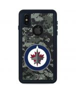Winnipeg Jets Camo iPhone XS Waterproof Case