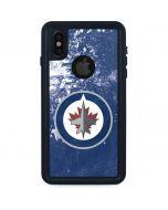Winnipeg Jets Frozen iPhone XS Waterproof Case