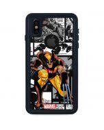 Wolverine Comic Strip iPhone XS Waterproof Case