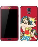 Wonder Woman in Action Galaxy S5 Skin