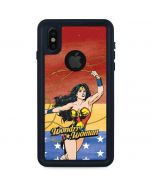 Wonder Woman Ready to Fight iPhone X Waterproof Case