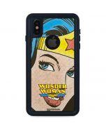 Wonder Woman Vintage Profile iPhone X Waterproof Case