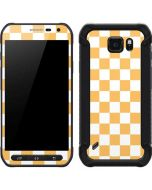 Yellow and White Checkerboard Galaxy S6 Active Skin