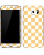 Yellow and White Checkerboard Galaxy S6 Edge Skin
