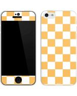 Yellow and White Checkerboard iPhone 5c Skin