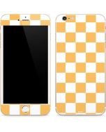 Yellow and White Checkerboard iPhone 6/6s Plus Skin