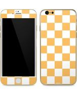Yellow and White Checkerboard iPhone 6/6s Skin