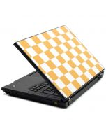 Yellow and White Checkerboard Lenovo T420 Skin