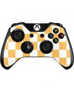 Yellow and White Checkerboard Xbox One Controller Skin
