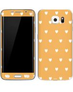 Yellow and White Hearts Galaxy S6 Edge Skin