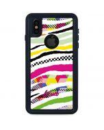 Zebra Pattern iPhone XS Waterproof Case
