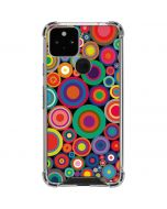 Psychedelic Circles Google Pixel 5 Clear Case