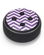 Purple Chevron Amazon Echo Dot Skin