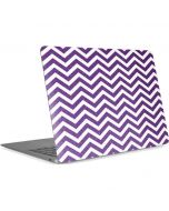 Purple Chevron Apple MacBook Air Skin