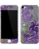 Purple Flourish Apple iPod Skin