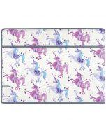 Purple Unicorns Galaxy Book Keyboard Folio 10.6in Skin