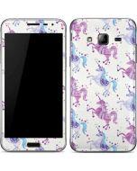 Purple Unicorns Galaxy J3 Skin