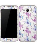 Purple Unicorns Galaxy J7 Skin