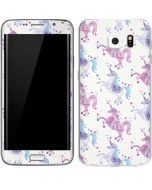 Purple Unicorns Galaxy S6 Edge Skin
