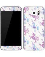Purple Unicorns Galaxy S6 Skin