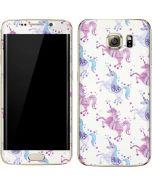 Purple Unicorns Galaxy S7 Edge Skin